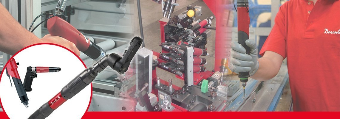 Discover our pneumatic fastening tools for aeronautics & automotive: screwdrivers, pulse tools, fastening accessories for high productivity and comfort.